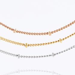 Jóias de acessórios de aço inoxidável Colar Satélite Bola Cadeia Contenção Senhora Design de jóias