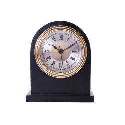 클래식 핫 셀 블랙 솔리드 우드 알람 시계