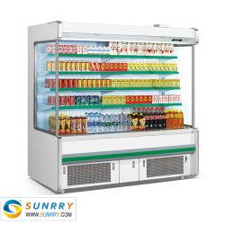 Супермаркет энергетического напитка дисплей холодильник