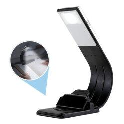 Gli indicatori luminosi chiari del libro di lettura del Portable LED del USB con la lampada d'attenuazione ricaricabile della clip flessibile staccabile per accendono/lettori di Ebook
