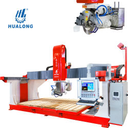 이탈리아 소프트웨어 5축 CNC 브릿지 스톤 절삭 및 싱크 절단 분쇄 톱 기계
