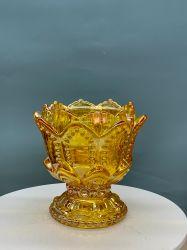 Comercio al por mayor nuevo diseño de portavelas de vidrio, Vidrio, contenedor de Galss Maceta candelabro de cristal