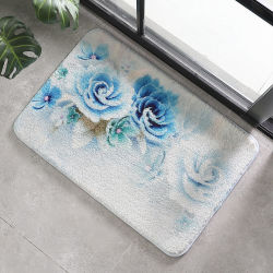 Impresso de moda da Praça Programável Pequeno banheiro tapetes de banho Tapetes de piso