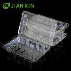 使い捨て可能なプラスチック透過ボックスケーキのフルーツサラダの食品包装ボックスは容器を取る