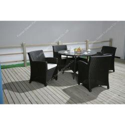 شعبيّة مطعم حديقة أثاث لازم [رتّن] خارجيّة [دين تبل] مع كرسي تثبيت