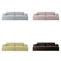 Foshan hogar moderno mobiliario del Hotel 123 esquina salón sofá asiento sofá de tela