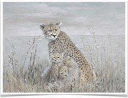 Maschere astratte delle pitture a olio del ghepardo stampate su arte della parete della tela di canapa