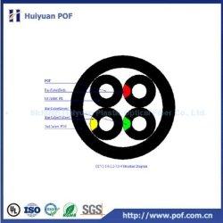 Ccv2-1.0/2.2/7.0-4 deux fois gainé POF Couleur câble de communication multicoeur