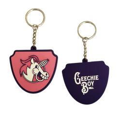 prix d'usine logo personnalisé en silicone en caoutchouc souple PVC Chaîne de clé pour cadeau promotionnel