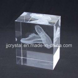 Kubus jd-CC-013 van de Gravure van de Laser van het Kristal van het Ontwerp van de douane 3D Binnen