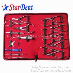 Kit d'insturment dentaire avec en acier inoxydable 304 Tweet pince dentaire