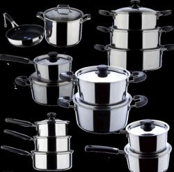 9pcs ustensiles de cuisine en acier inoxydable Ensemble