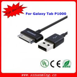 câble usb 30pin pour la galaxie P1000 de câble de tablette de galaxie de Samsung