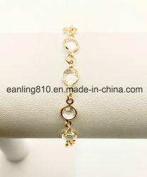 De ronde Juwelen van de Manier van de Armband van het Sokje van de Keten van de Link van de Kristallen van Halfedelstenen