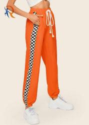 Venta caliente Plus Size Side-Stripe suelto el sudor de las mujeres vía pantalones emparejador Rtm-158