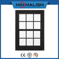 Алюминиевый корпус с двойной повесил сдвиньте окно с промежуточные планки для вентиляции/один повесил трубку/Windows для закусочных баров и кафе/ окно входа