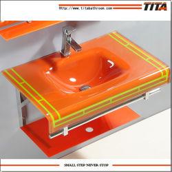 Montage mural du bassin de lavage/récipient de verre dissipateur/lavabo Inde T-13