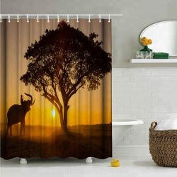 Элегантный цифровой печати полиэстер душ шторки