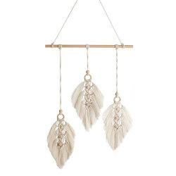 Nordic Leaf Handmade coton tissé tapisserie Décoration de mariage de l'Ins Chambre moniteur de chevet Wall Hanging tapisserie de ménage don