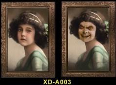 3D настоящего Allhallows Ghost и рамка для фотографий