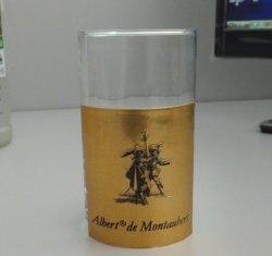Stannum ha impresso il contrassegno, contrassegno adesivo della bottiglia, contrassegno della bottiglia di vino, contrassegno dei pesci, contrassegno russo del vino