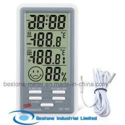 Horloge Hygro-Thermomètre avec température intérieure et extérieure (DC803)