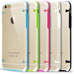Ultra Thin Clear Transparente cristal TPU cubierta del estuche rígido para el iPhone 6
