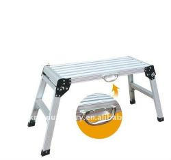 Einfache faltbare Aluminiumarbeitsbühne-Strichleiter