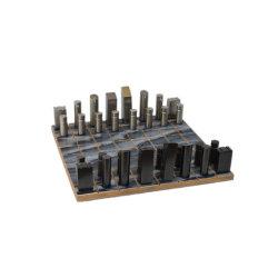 الصين عادة لعبة شطرنج معدن شطرنج مع قاعدة خشبيّة