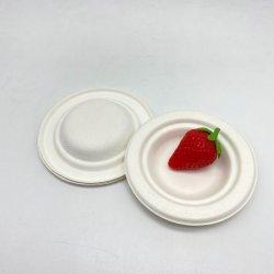 Biologisch Abbaubare Zuckerrohr Bagasse Runde Sauce Gericht