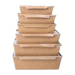 Het vetvrije Vakje van het Document van het Voedsel/het Vakje van de Maaltijd van het Document/het Witte Vakje van de Lunch van het Document van het Karton met het Venster van het Huisdier