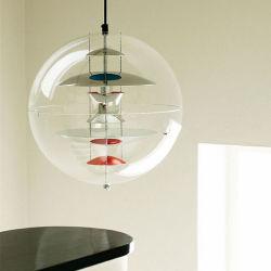 Страны Северной Европы современной Designer E26 E27 Лампы из прозрачного стекла подвесной светильник шаровой опоры рычага подвески