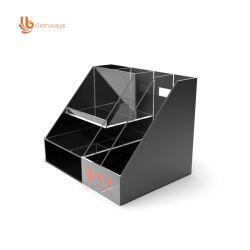 사용자 정의 투명 Perspex Acrylic Desk 스택형 도서 홀더 오거나이저