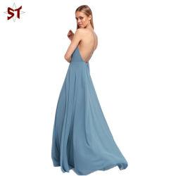 Vestito da sera blu delle signore maxi con la cinghia registrabile