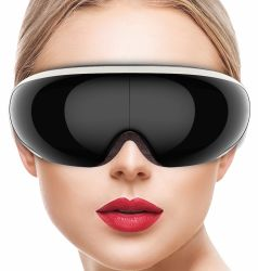 Массажер для глаз с Visiable дизайн добавить отрицательных ионов давление воздуха вибрации цифровой массажа массажер для глаз