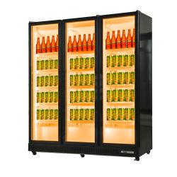Коммерческие супермаркет дисплей пиво Оборудование кабинета Охладитель для напитков в ресторане холодильник