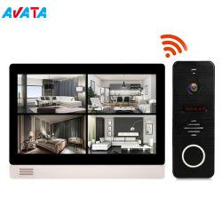9 Polegadas Villa Casa Inteligente Porta de vídeo com o menu da interface do usuário de telefone intercomunicador Remoto