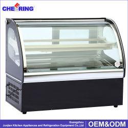 熱い販売法のスーパーマーケットの安い結婚式の小型ガラスケーキの表示冷却装置ケーキのショーケースのスリラー