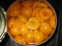China Comida enlatada damasco fresco em calda metade/Fatias