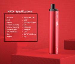 최고의 판매량을 자랑하는 HQD 맥스 E-시가 E-CIG 금속 소재 일회용 원숭이 대용량 Vape 기화기 펜 포드