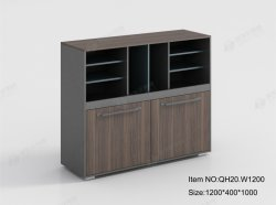 Estantería de madera duradera de decoración en blanco de almacenamiento de oficina archivadores