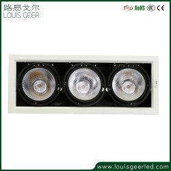 높은 CRI 각도 조절 가능 CE RoHS 공인 호텔 레지던스 조명 1 2 3 헤드 36W 45W LED 그릴 다운라이트