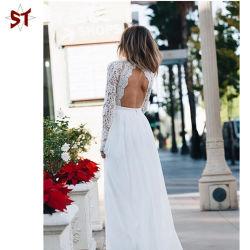 Mesdames Grace long manchon pure et simple robe avec V -le cou dans un joli longue robe de soirée. Fashion robe,