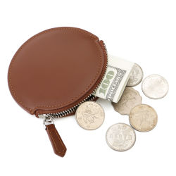 Titulaire de carte RFID Slim en cuir Petit Zipper Coin sac à main
