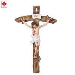 Пластмассовый ремесел религиозных рисунок Иисуса Креста статую украшения