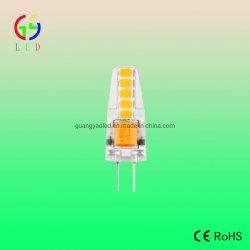 La lampadina Superbright del silicone del LED G4 1.5W, le lampade ricoperte gel trasparente del silicone del LED G4, il LED G6.35 dirige le lampadine alimentabili