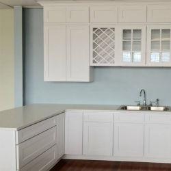 China-Fabrik-preiswerte festes Holz-Küche-hölzerne Möbel Cabinet Gabinete De Cocina
