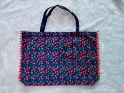 Blaue Einkaufstasche des Segeltuch-8oz mit der super grossen Kapazität