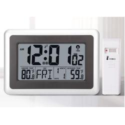 Reloj de pared atómica con piscina interior la temperatura exterior y la base de escritorio