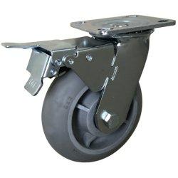 4 Aufgaben-Qualitäts-Fußrolle der Zoll-Eingabe-113kg mittlere mit Gesamtbremse